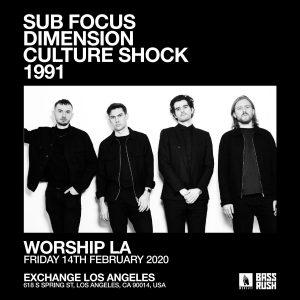 Bassrush presents SubFocus, Dimension, Culture Shock at Exchange LA