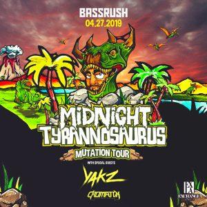 Bassrush presents Midnight Tyrannosaurus at Exchange LA