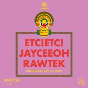 ETC!ETC!, Jayceeoh, Rawtek at Academy LA