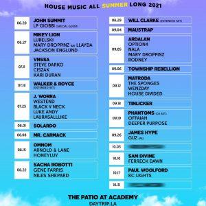 Day Trip 2021 Schedule at Academy LA