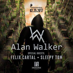Alan Walker, Felix Cartal, Sleepy Tom at Exchange LA | February 25, 2017