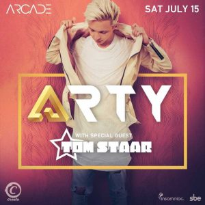 Arty with Tom Staar at Create Nightclub