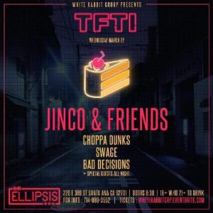 Jinco and Friends at Bar Ellipsis | March 22, 2017