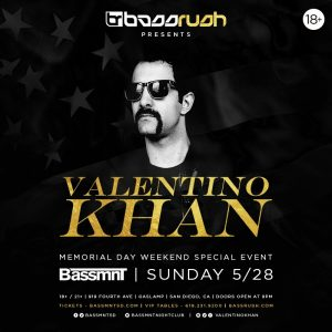 Valentino Khan at Bassmnt | May 28, 2017