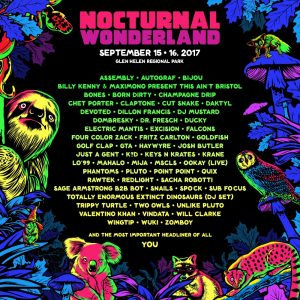 Nocturnal Wonderland 2017 Lineup