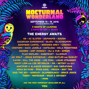 Nocturnal Wonderland 2018 Lineup