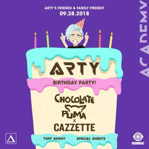 Arty w/ Chocolate Puma & Cazzette at Academy LA