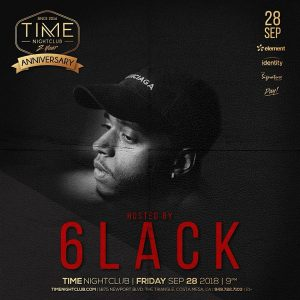 6lack at Time OC - September 28, 2018