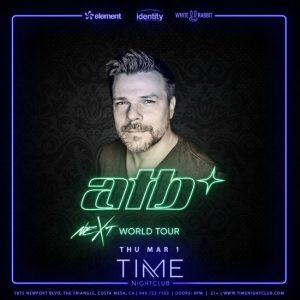 ATB at Time Nightclub - March 1, 2018