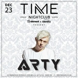 Arty at Time Nightclub - Dec. 23, 2017