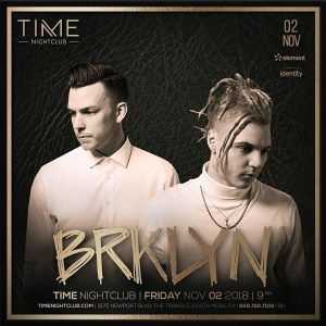 BRKLYN at Time - Nov 2, 2018