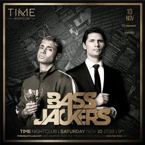 Bassjackers at Time - November 10, 2018