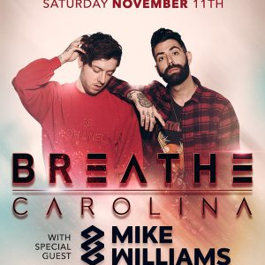 breathe carolina mike williams at create nightclub tickets