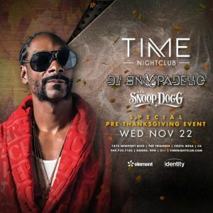 DJ Snoopadelic at Time Nightclub - November 22, 2017