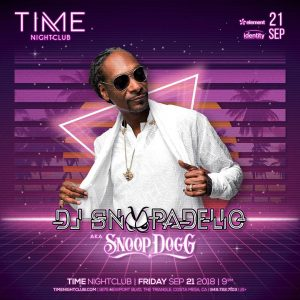 DJ Snoopadelic at Time - Sep 21, 2018