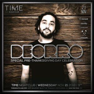 Deorro at Time - November 20, 2018