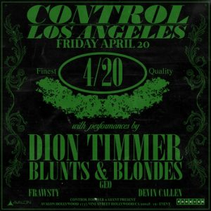Dion Timmer at Avalon Hollywood - April 20, 2018