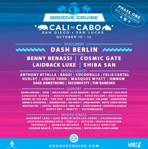 Groove Cruise Cabo 2018 Lineup