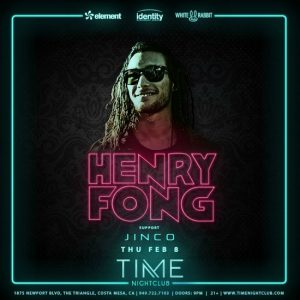 Henry Fong at Time Nightclub - February 8, 2018