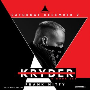 Kryder at Avalon Hollywood