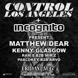 Matthew Dear + Kenny Glasgow at Avalon Hollywood - August 3, 2018