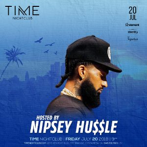 Nipsey Hussle at Time Nightclub - July 20, 2018