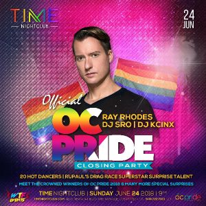 OC Pride Closing Party at Time - June 24, 2018