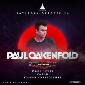Paul Oakenfold at Avalon - October 26, 2019