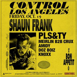 Shaun Frank at Avalon - Oct 19 2018