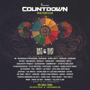 Countdown NYE 2017 Lineup