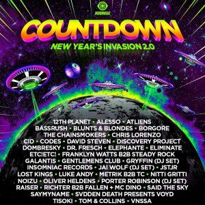 Countdown NYE 2019 Lineup